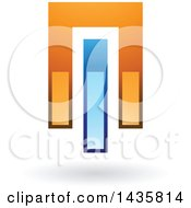Abstract Power Button Or Glossy Design With A Shadow