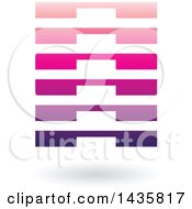 Clipart Of A Floating Abstract Rectangle With Layers And A Shadow Royalty Free Vector Illustration