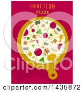 Clipart Of A Fraction Pizza Math Design Royalty Free Vector Illustration