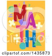 Clipart Of A Math Design With Shapes And Symbols Royalty Free Vector Illustration