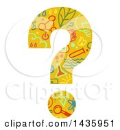 Clipart Of A Science Patterned Question Mark Royalty Free Vector Illustration by BNP Design Studio