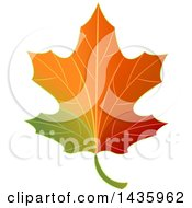 Clipart Of A Gradient Autumn Maple Leaf Royalty Free Vector Illustration by BNP Design Studio