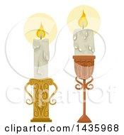 Vintage Lit Candles