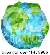 Clipart Of A Geometric Planet Earth Royalty Free Vector Illustration
