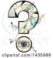 Clipart Of A Question Mark Made Of An Eye And Geometric Shapes Royalty Free Vector Illustration by BNP Design Studio