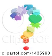 Clipart Of A Question Mark Made Of Colorful Speech Bubbles Royalty Free Vector Illustration by BNP Design Studio