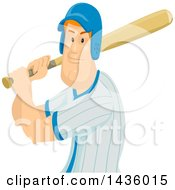 Red Haired White Male Baseball Player Batting