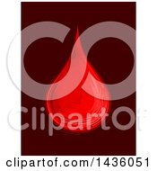 Clipart Of A Sketched Blood Drop On Maroon Royalty Free Vector Illustration by BNP Design Studio