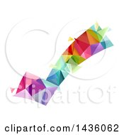 Clipart Of A Colorful Geometric Check Mark Royalty Free Vector Illustration by BNP Design Studio