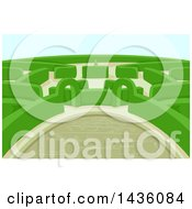 Clipart Of A Maze In A Hedge Garden Royalty Free Vector Illustration