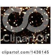 Clipart Of A Christmas Background Of Stars And Sparkly Bokeh Flares Royalty Free Illustration