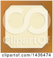 Clipart Of A Brown Paper Picture Holder With A Blank Photo Royalty Free Vector Illustration by elaineitalia