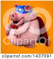 3d Super Hero Chubby Pig
