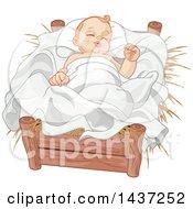 Nativity Baby Jesus In A Crib