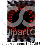 Clipart Of A Red White Gray And Black Fractal Background Royalty Free Illustration