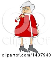 Clipart Of A Cartoon Christmas Mrs Claus Royalty Free Vector Illustration by djart