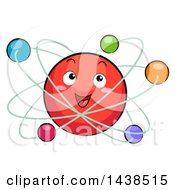 Clipart Of A Happy Atomic Model Mascot Royalty Free Vector Illustration