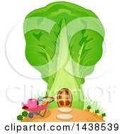 Clipart Of A Cabbage Garden House Royalty Free Vector Illustration