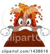 Clipart Of A Furious Volcano Mascot Spewing Lava Royalty Free Vector Illustration