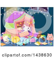 Clipart Of A Tent In A Play Room Royalty Free Vector Illustration by BNP Design Studio