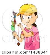 Happy Tomboy Girl Holding A Journey Stick