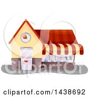 Clipart Of A Butcher Shop Building Royalty Free Vector Illustration by BNP Design Studio