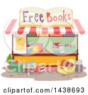 Clipart Of A Free Book Stand Royalty Free Vector Illustration by BNP Design Studio