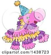 Clipart Of A Happy Pinata Horse Mascot Royalty Free Vector Illustration by BNP Design Studio