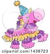 Happy Pinata Horse Mascot