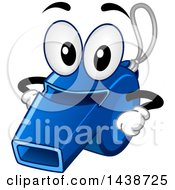 Blue Sports Whistle Mascot