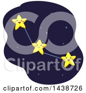 Clipart Of A Constellation Formed By Interconnected Stars Royalty Free Vector Illustration