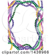 Clipart Of A Border Of Colorful Mardi Gras Beads Royalty Free Vector Illustration by Pushkin