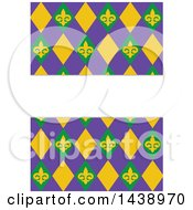 Purple Yellow And Green Mardi Gras Background With Text Space