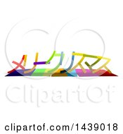 Colorful Words Merry Christmas In Japanese Katakana Language With Shadows On White