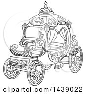 Black And White Lineart Cinderella Story Carriage