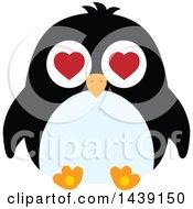 Male Penguin Valentine Heart Eyes