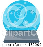 Clipart Of A Crystal Ball Royalty Free Vector Illustration