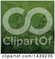 Clipart Of A Low Poly Abstract Geometric Background In Chlorophyll Green Royalty Free Vector Illustration
