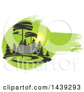 Clipart Of A Go Green Or Landscaping Design Royalty Free Vector Illustration