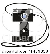 Clipart Of A Camera And Strap Royalty Free Vector Illustration