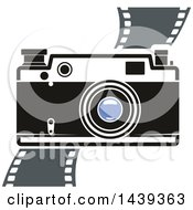 Clipart Of A Camera And Film Strip Royalty Free Vector Illustration by Vector Tradition SM