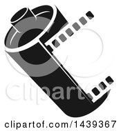 Clipart Of A Black And White Film Roll Royalty Free Vector Illustration