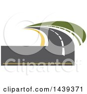 Clipart Of A Highway Road Logo Royalty Free Vector Illustration