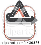 Clipart Of A Highway Road Logo Royalty Free Vector Illustration by Vector Tradition SM