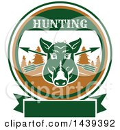 Clipart Of A Boar Hunting Design Royalty Free Vector Illustration by Vector Tradition SM