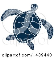 Navy Blue Sea Turtle