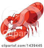 Clipart Of A Lobster Royalty Free Vector Illustration by Vector Tradition SM