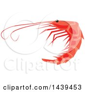 Clipart Of A Shrimp Royalty Free Vector Illustration