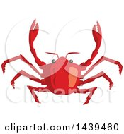 Clipart Of A Crab Royalty Free Vector Illustration