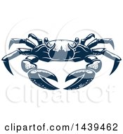 Clipart Of A Navy Blue Crab Royalty Free Vector Illustration by Vector Tradition SM